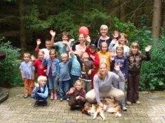 Gruppenarbeit mit Therapiehund