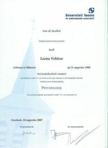 Urkunde Psychologie